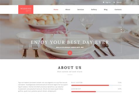 drupal themes wedding wedding agency premium responsive drupal template