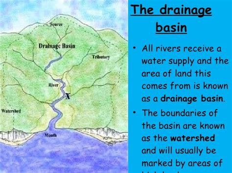 drainage basin system diagram rivers drainage basin