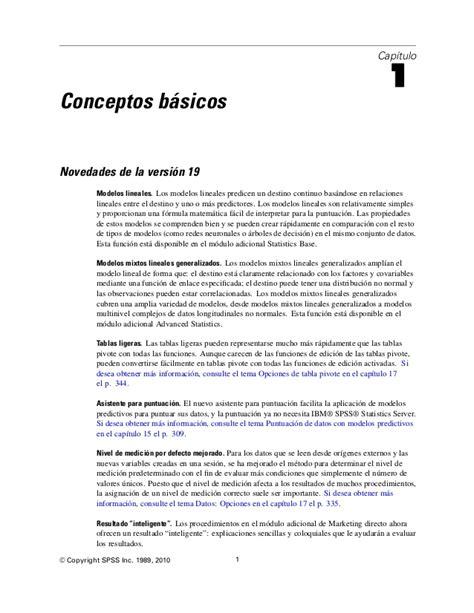 tutorial de spss 18 en español manual spss19 en espa 227 177 ol