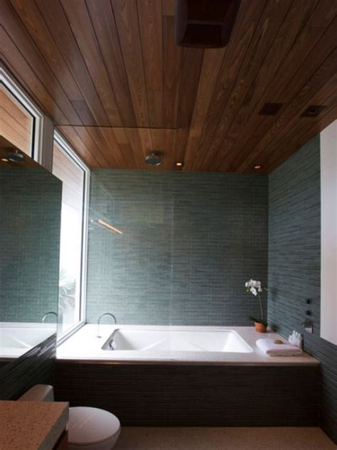 Bathroom Wood Ceiling Ideas | stylish decors featuring warm rustic beautiful wood ceilings