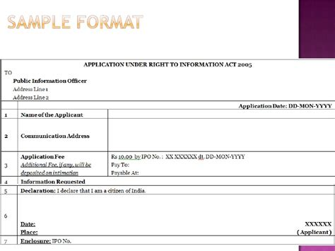 format to file rti how to file a rti application