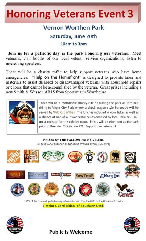 sportsman warehouse st george patriot guard riders join us for honoring veterans day
