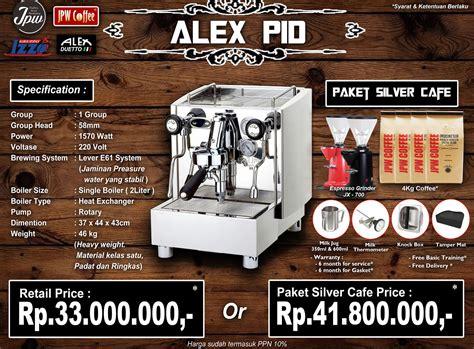 Mesin Kopi Alex Pid paket buka cafe mesin espresso mesin kopi jpw coffee