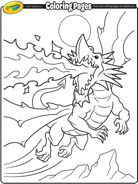 the best dragon breathing fire coloring pages