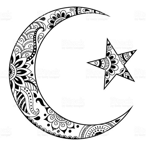 muslim symbol tattoo religious islamic symbol of the star and the crescent