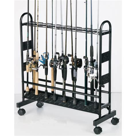 Rack Capacity by Organized Fishing 16 Capacity Industrial Metal Rod Rack 652722 Fishing Rod Racks At Sportsman