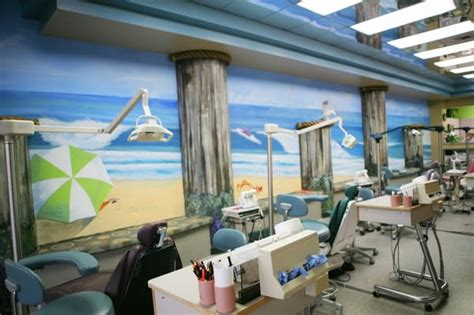open concept beach themed office you are encourage to accompany your child back for their visit