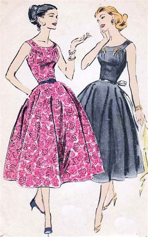 1950s dressmaking patterns glamour fashion fifties 1950s vintage sewing pattern advance 8296 rockabiily