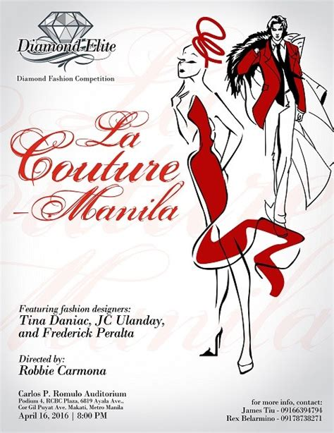 fashion illustration competitions 2016 la couture manila fashion design competition and fashion show wazzup ph