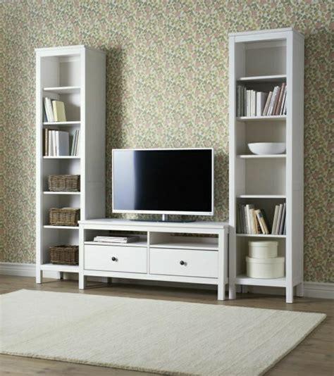 meuble tv ikea hemnes blanc artzein