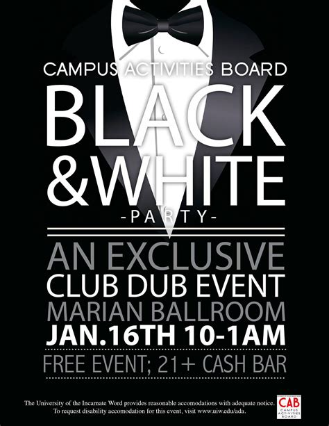 Flyer Black And White