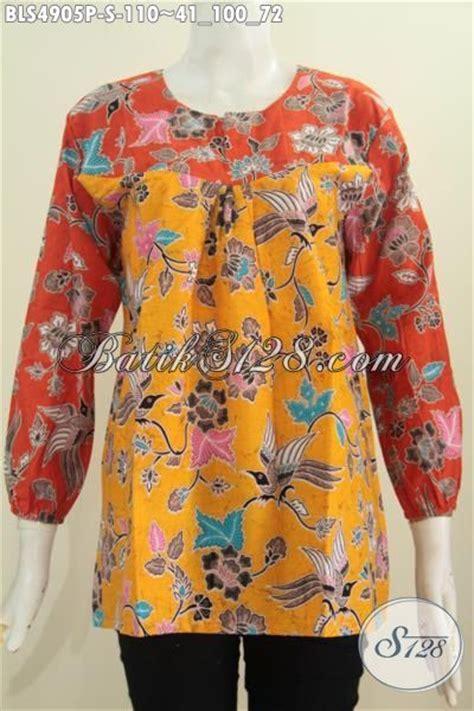 Blus Lengan Panjang batik blus modis keren model lengan panjang dengan ujung