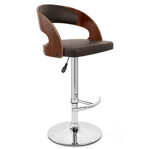 chaise de bar en bois chaise de bar bois chrome noyer monde du tabouret