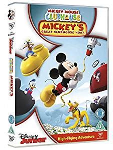 Tk Mickey Top 51 000 mickey mouse clubhouse mickey s great clubhouse hunt dvd retro badge tv