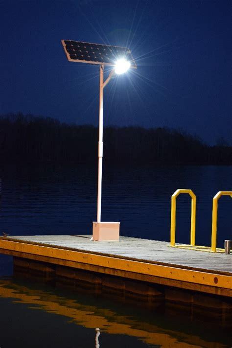 solar led dock lights hercules 50 watt led solar dock light kit 6000 total