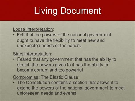 The Living Document
