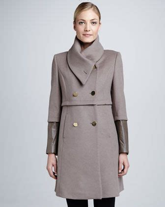 Elie Taharis Black Brushed Wool Patent Belt Coat Inspired By Poshs Fashion by Part I Goodbye Boring Black Wool Coat Get Inspired By
