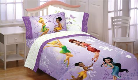 tinkerbell bedding 3pc disney fairies tinkerbell flight twin bed sheet set purple iridessa sheets ebay