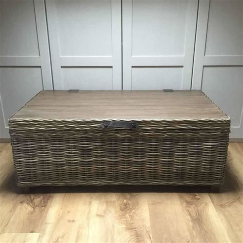 Wicker Coffee Table Storage Handcrafted Timber Rattan Storage Coffee Table By Cowshed Interiors Notonthehighstreet