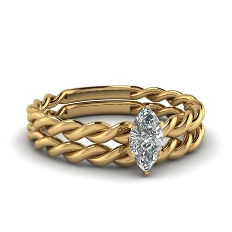 twisted rope ring set fascinating diamonds