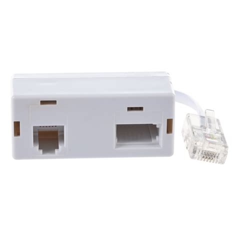 Splitter Rj 11 Adapter 1 3 Aktif rj45 to rj11 secondary splitter telephone adapter new style g3s4 ebay