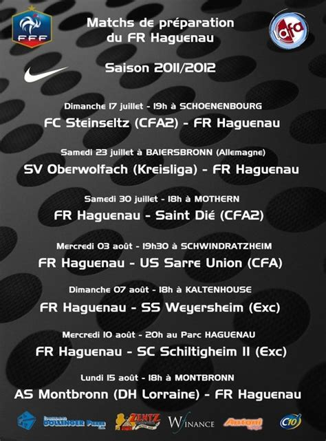 Calendrier Des Matchs Amicaux Football