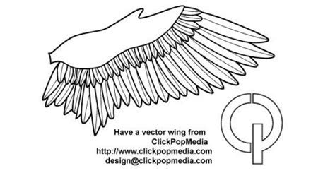 Bird Wings Outline by Wing Outline Vector Free