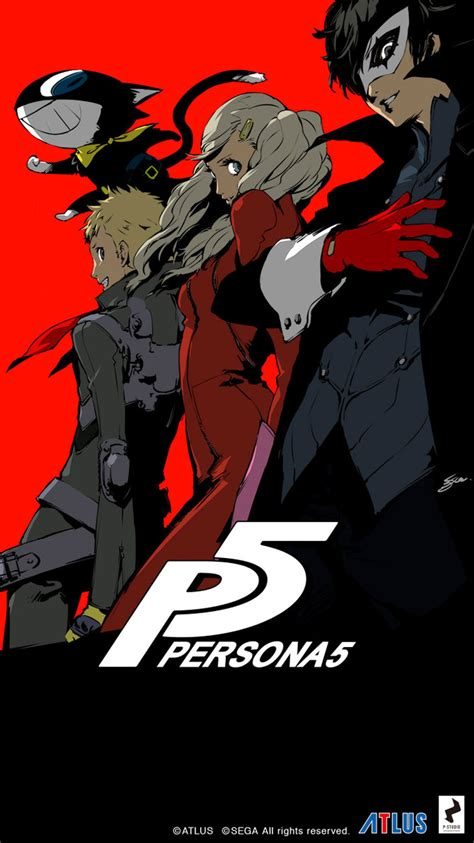 persona 5 iphone 6 wallpaper colored version by lazyaxolotl on deviantart