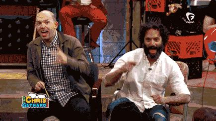 jason mantzoukas dumpster paul scheer trash gif by gethardshow find share on giphy