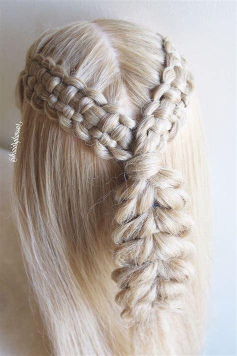 lace zipper braids  pull  braid full tutorial    youtube channel