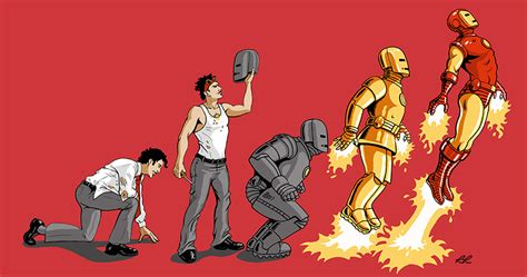 evolution iron man dragonflyrina deviantart