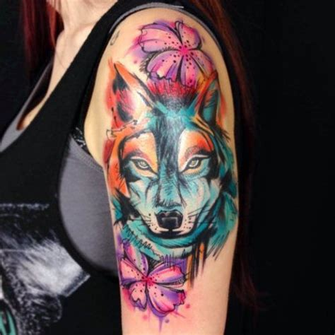 watercolor tattoo tumblr fox watercolor