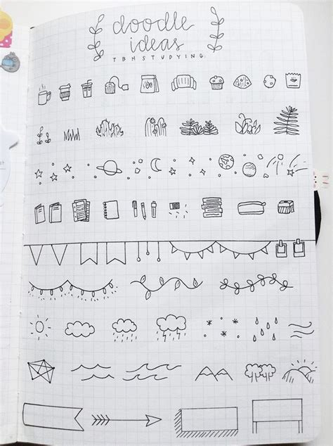 doodle ideas list miceptic bullet journal and doodles