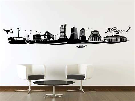 wall stickers nz wellington city silhouette your decal shop nz designer