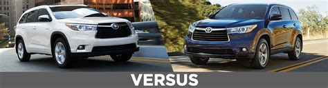 Compare Toyota Highlander Models New 2016 Toyota Highlander Vs 2015 Highlander Model
