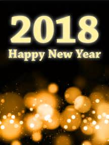 glowing light happy new year card 2018 birthday greeting cards by davia