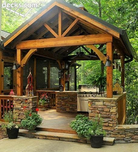 rustic outdoor kitchen landscaping back yard ideas awesome outdoor kitchens kitchens summer and patios