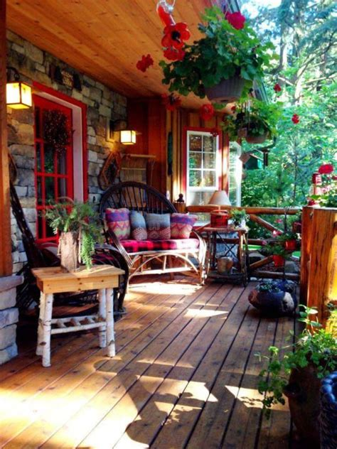 colourful rustic outdoor bohemian country porch funky