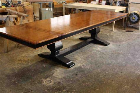 custom wood dining tables crafted custom mahogany wood trestle dining table