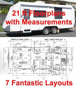 caravan floor plans rv247 caravan rv marine 7 floor plans with measurements
