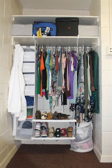 how to organize a small closet organizing small closets in dorm rooms rubbermaid