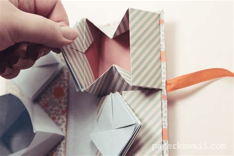 Free Origami Book - origami thread book tutorial paper kawaii