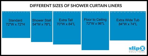 What Size Are Shower Curtains by How Is A Standard Or Shower Curtain Liner
