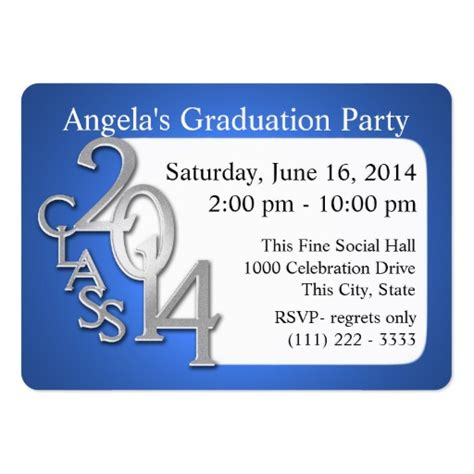 Card Insert Template Free For Graduation by Graduation Photo Insert Card Large Business Cards