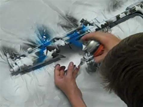 spray painter recruitment how to paint your airsoft gun blue camo