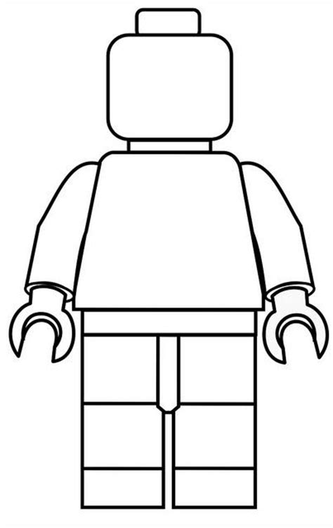 Lego Guy Coloring Pages | color a lego man happily uprooted