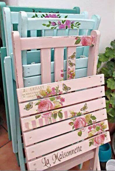 decoupage sedie come recuperare e decorare vecchie sedie da giardino