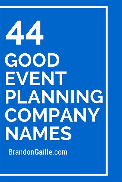 Wedding Planning Companies by 45 Event Planning Company Names Event Planning
