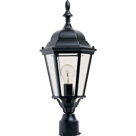 Outdoor Light Pole Fixtures Maxim Lighting Coldwater 1 Light Burnished Outdoor Pole Post Mount 4055hobu The Home Depot