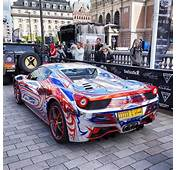 Very Chrome Ferrari 458 Spider From Oman Gumball3000 Rally
